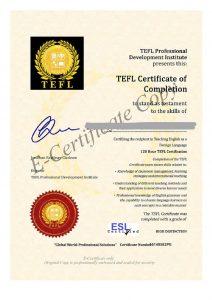 InkedTEFL Certificate